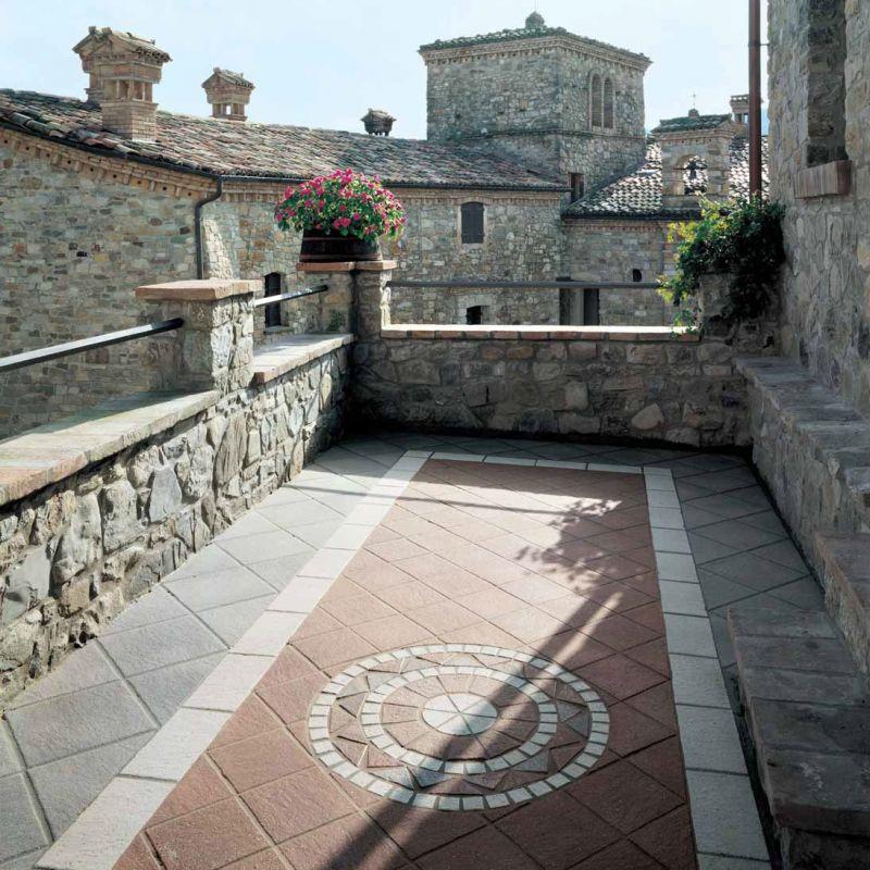 Ступень керамогранитная серая 25x33 см ATLAS CONCORDE Dolmen Porfido Grigio Gradone (9DGG), фото 2
