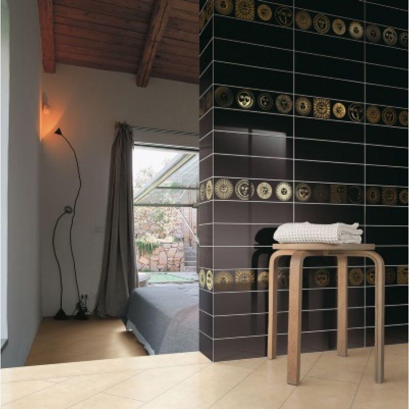 Декор керамический настенный, 10х40 см CERAMICA BARDELLI Soli E Lune Nero Extra 2 (SOLIELUNEN10X402), фото 2