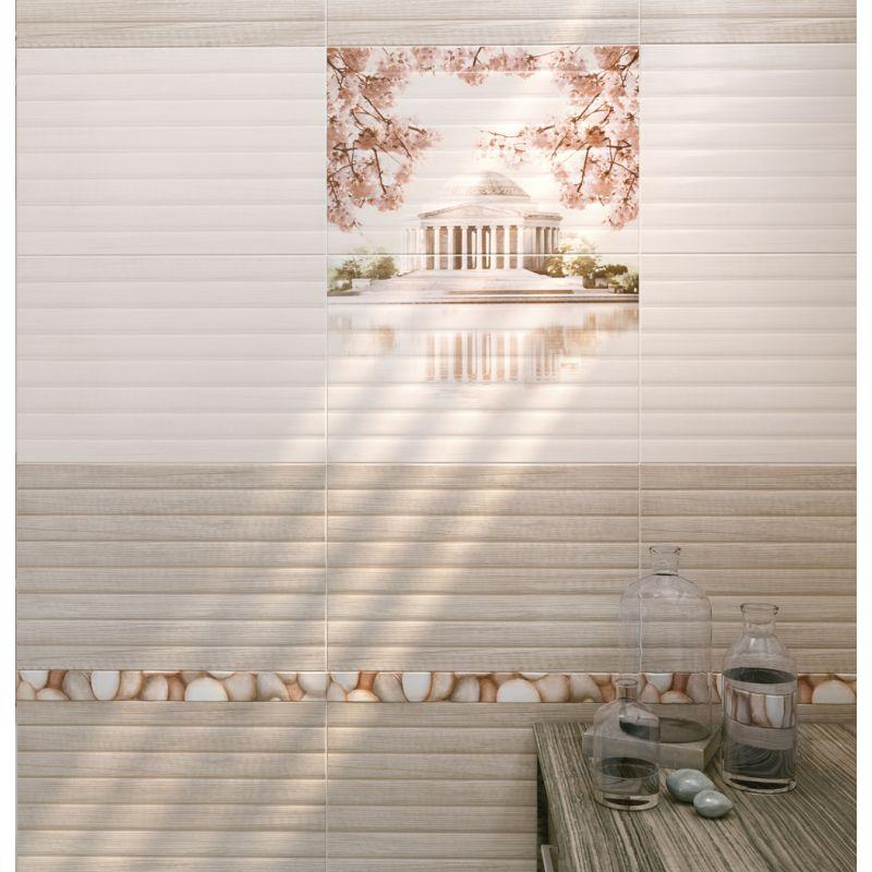 Керамическая плитка настенная, бежевая, 30х45 см CERSANIT Sakura Beige (311202), фото 4