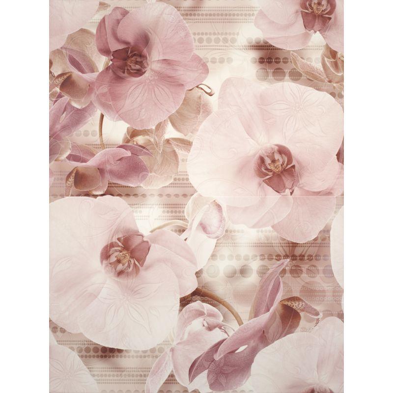 Декоративная плитка настенная, цветы, 45х60 см CERSANIT Elisabeta Panno Flower (311212)