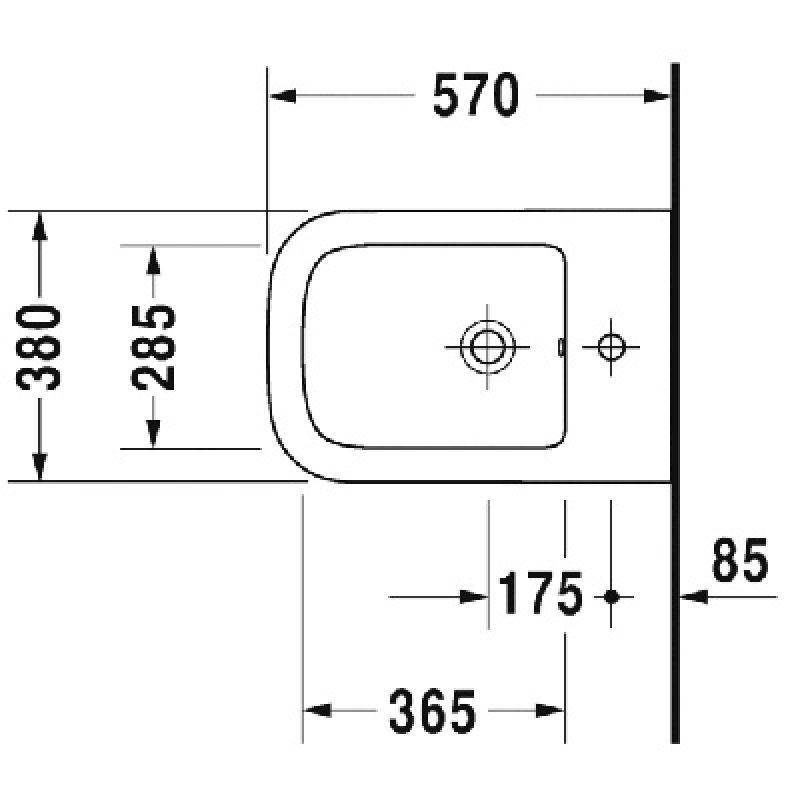 Биде подвесное DURAVIT P3 Comforts (2268150000), фото 2