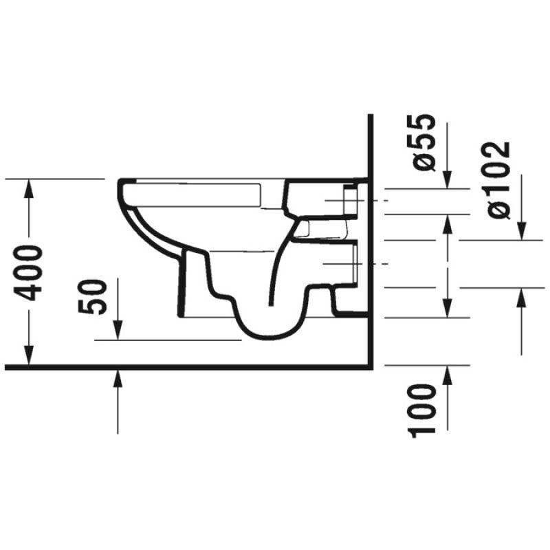 Унитаз без ободка с крышкой DURAVIT DuraStyle Basic (45620900A1), фото 5