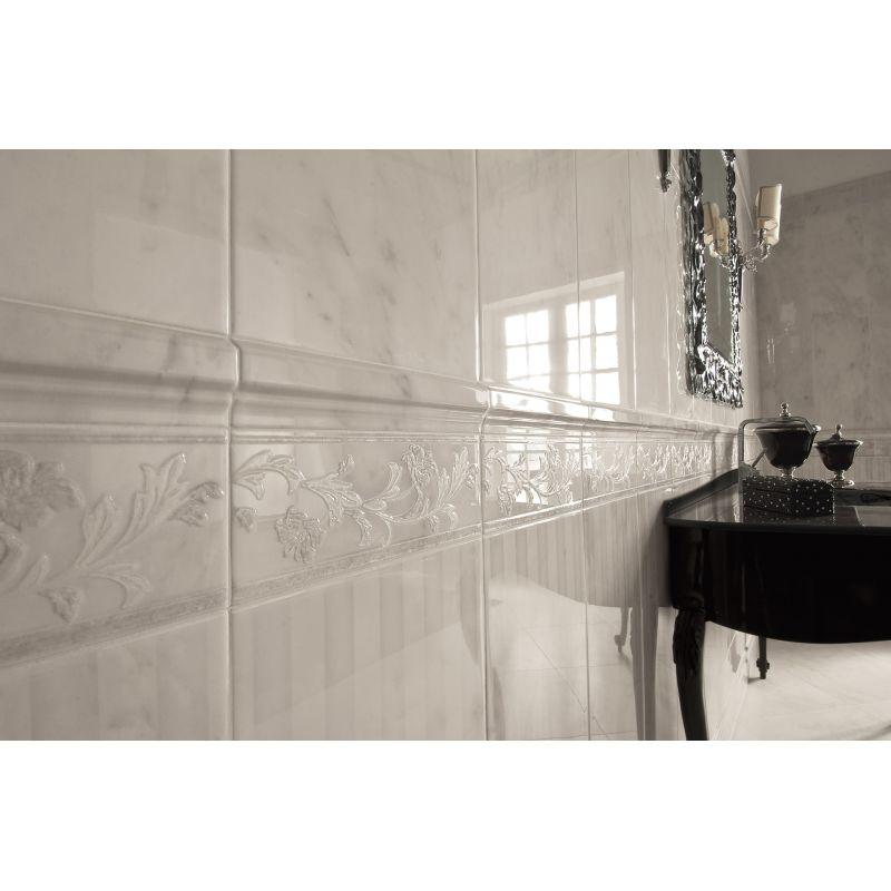 Декор керамический настенный, 25х60 см GARDENIA ORCHIDEA Lirica Modulo Riga Bianco (67310), фото 3