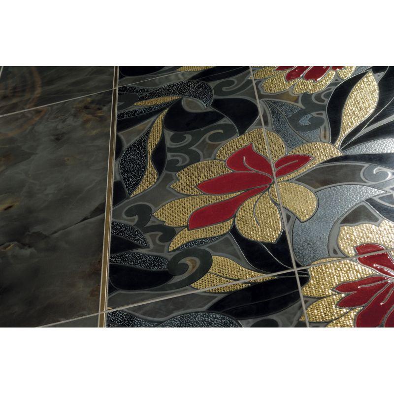Декор керамический настенный, 19х49 см GARDENIA ORCHIDEA Onice Decoro Gold Filled (61330), фото 3