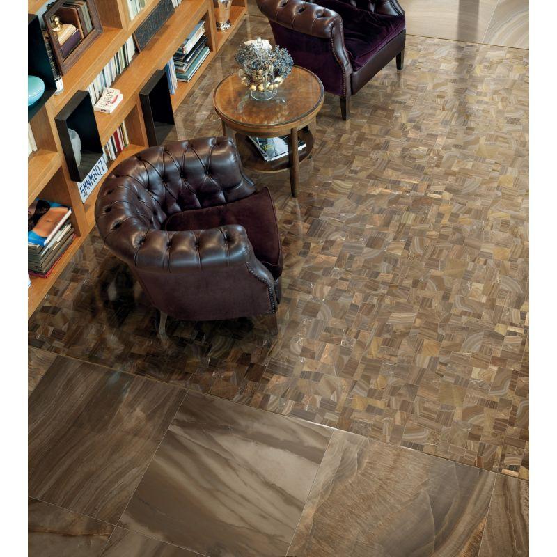 Керамогранитная плитка универсальная, наружная, коричневая, 78х78 см GARDENIA ORCHIDEA Charme Mix Dark (44004), фото 2
