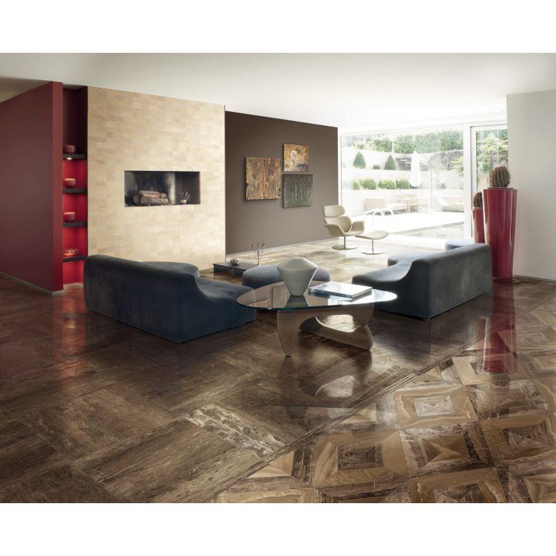 Керамогранитная плитка универсальная, наружная, коричневая, 78х78 см GARDENIA ORCHIDEA Charme Mix Dark (44004), фото 3