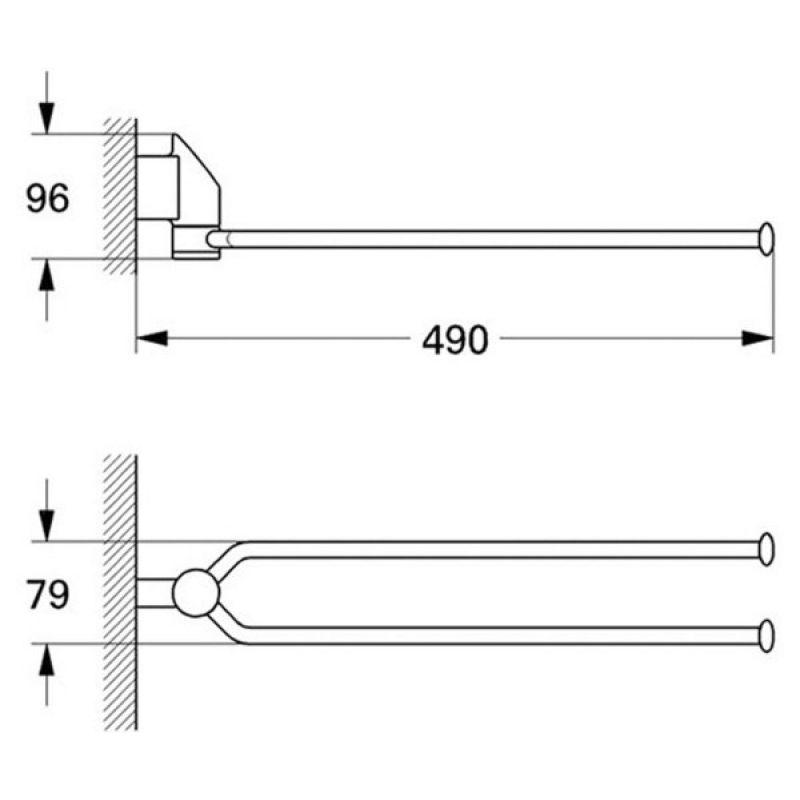 Полотенцедержатель GROHE Taron (40168000), фото 2