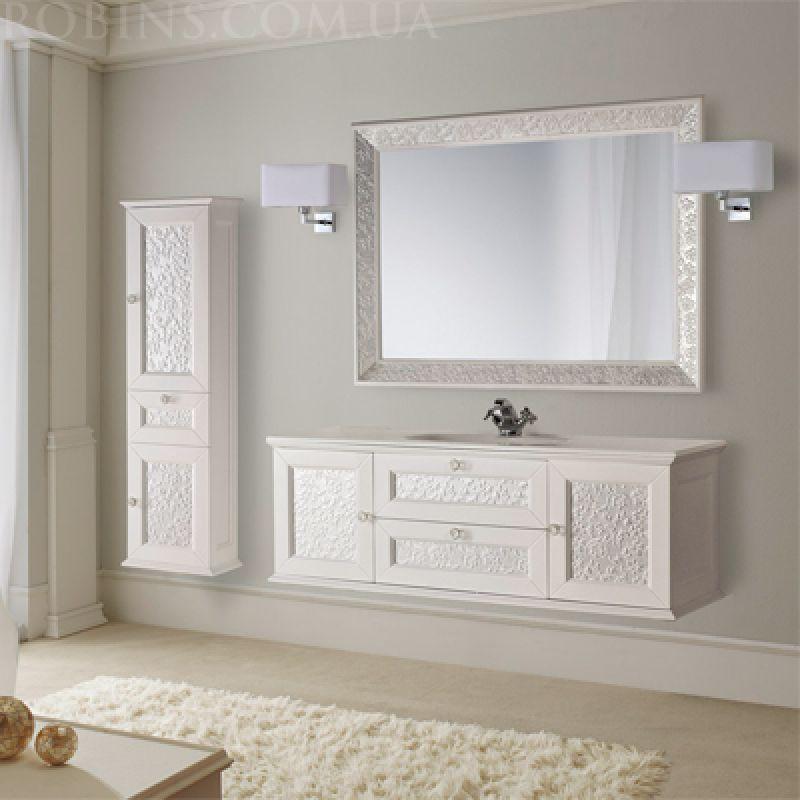 MOBILI DI CASTELLO Eros - Пенал в ванную комнату, подвесной, белый ...