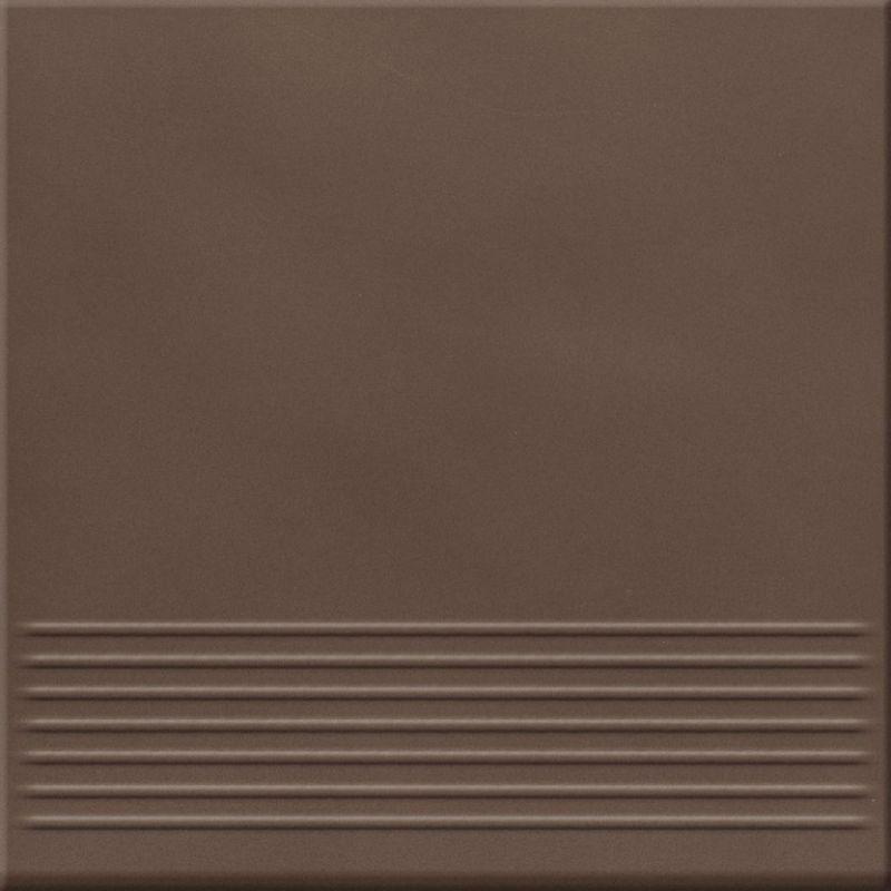 Плитка для ступеней 30х30 OPOCZNO Loft BROWN STEPTREAD (422479)