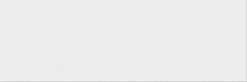 Керамическая плитка настенная, белая, 25х75 см OPOCZNO Pret a Porter White Textile (311151)