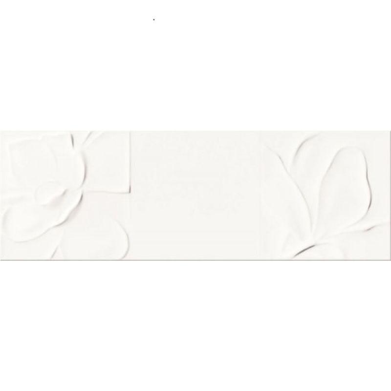 Плитка керамическая 25х75 OPOCZNO Structure Pattern WHITE FLOWER STRUCTURE (402086)