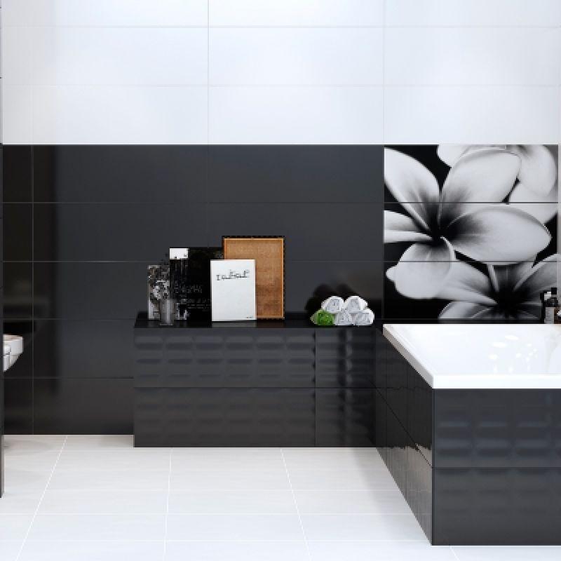 Декоративная плитка настенная, цветы, 75х75 см OPOCZNO Pret a Porter Flower Grey Composition (311148), фото 2