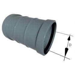 Муфта двойная 70 канализационная OSTENDORF HT (PPs) (17200)
