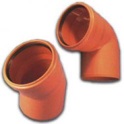 Отвод 200х15° канализационный наружный OSTENDORF KG2000B (71600)