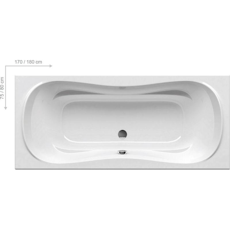 Ванна акриловая 180x80 RAVAK Campanula II (CB21000000)