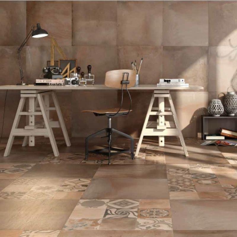 Керамогранитная плитка универсальная, наружная, коричневая, 60х60 см RICCHETTI CERAMICHE Terracotta Argilla Rett. (305307), фото 3