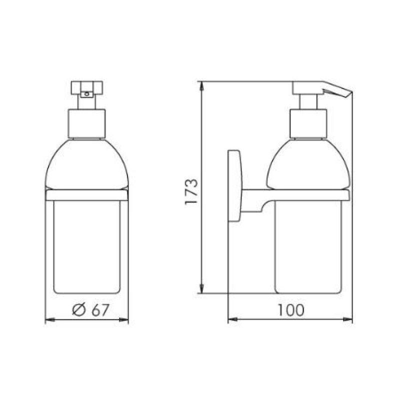 Дозатор мыла SAM WAY (0033806010), фото 2