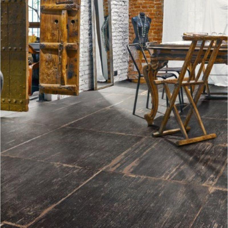 Керамогранитная плитка напольная, наружная, чёрная, 60х60 см SANT AGOSTINO Blendart Dark (CSABLADK60), фото 2