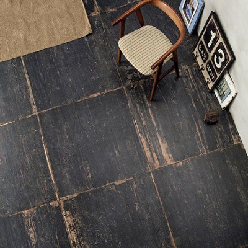 Керамогранитная плитка напольная, наружная, чёрная, 60х60 см SANT AGOSTINO Blendart Dark (CSABLADK60), фото 3