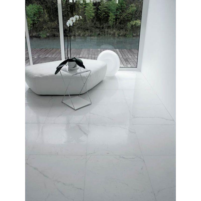 Керамогранитная плитка напольная, наружная, белая, 60х60 см SANT AGOSTINO I Marmi Italiani Statuario Kry (CSASTREL60), фото 2