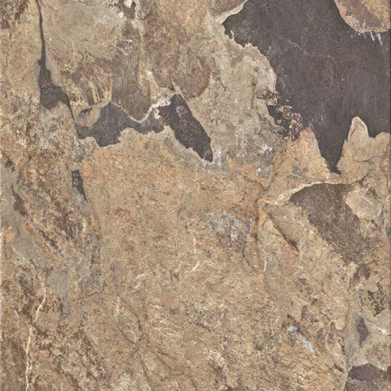 Керамогранитная плитка напольная, наружная, коричневая, 30,5x30,5 см UNICOM STARKER Natural Slate Autumn (160011)