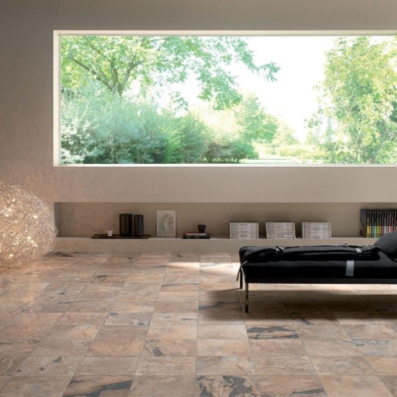 Керамогранитная плитка напольная, наружная, коричневая, 30,5x30,5 см UNICOM STARKER Natural Slate Autumn (160011), фото 2