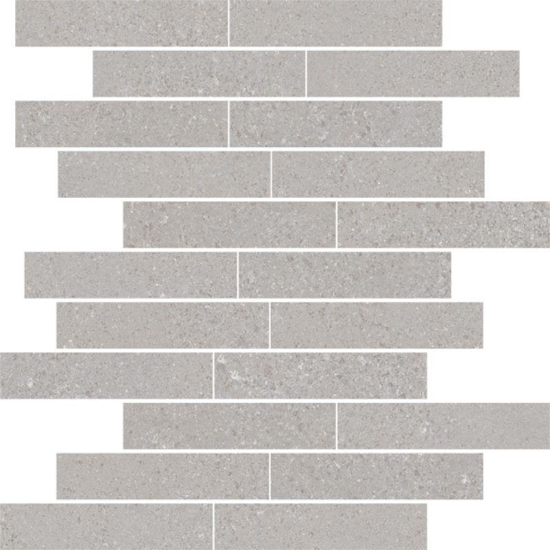 Мозаика керамогранитная универсальная, серая, 30x30 см VIVES Alpha Mosaico Iraklia Cemento (AMICE300)